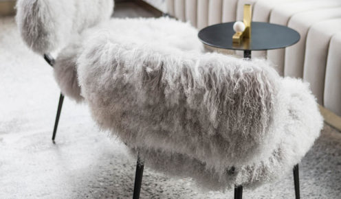 Some of the furniture is so fluffy you could almost mistake it for a furry friend.