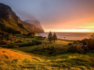 The golden hour: Lord Howe Island.