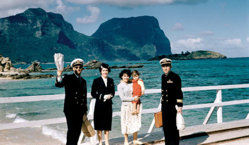 Aircrew (including Matthew Holle's mother, Margaret) depart Lord Howe Island with bundles of Kingfish (photo: Margret Holle).