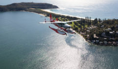 A Sydney Seaplanes flight over Palm Beach.