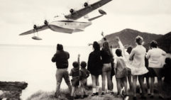 The last flying boat service from Lord Howe Island in 1974 (photo: Hazel Payten).