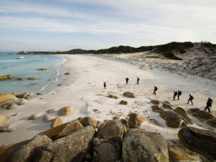 Walking Bay of Fires Tasmania