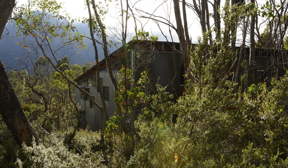 The renewable-energy-powered Kia Ora Huts, Cradle Mountain, Tasmania.