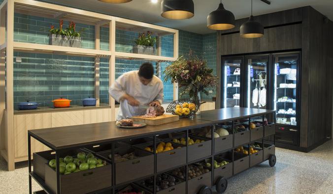 The kitchen inside the Novotel Barossa