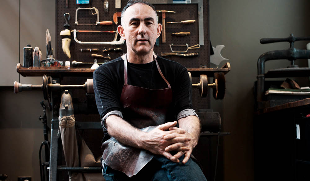 He's been making shoes for 27 years (photo: Jonathan Cami).