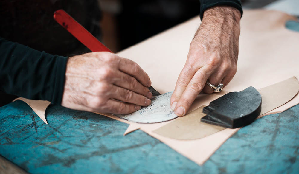 The Pattern cutting stage of the shoemaking process (photo: Jonathan Cami).
