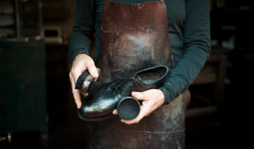 Andrew works with the finest tanneries to source leathers with a natural finish and vegetable tan (photo: Jonathan Cami).