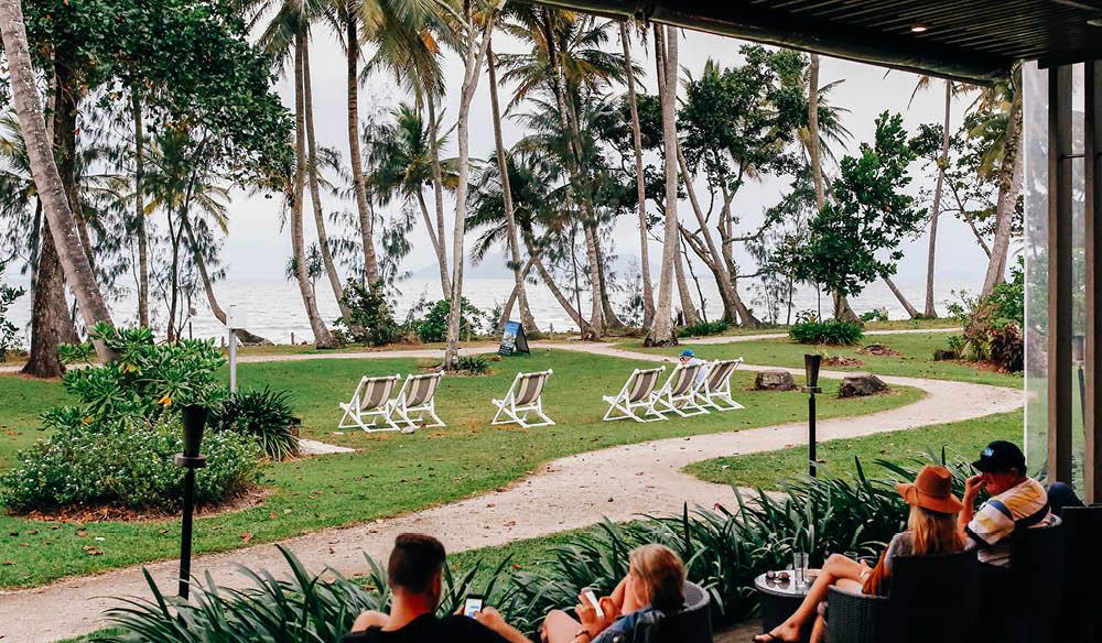 Island vibe ashore: Castaways Resort & Spa, Mission Beach