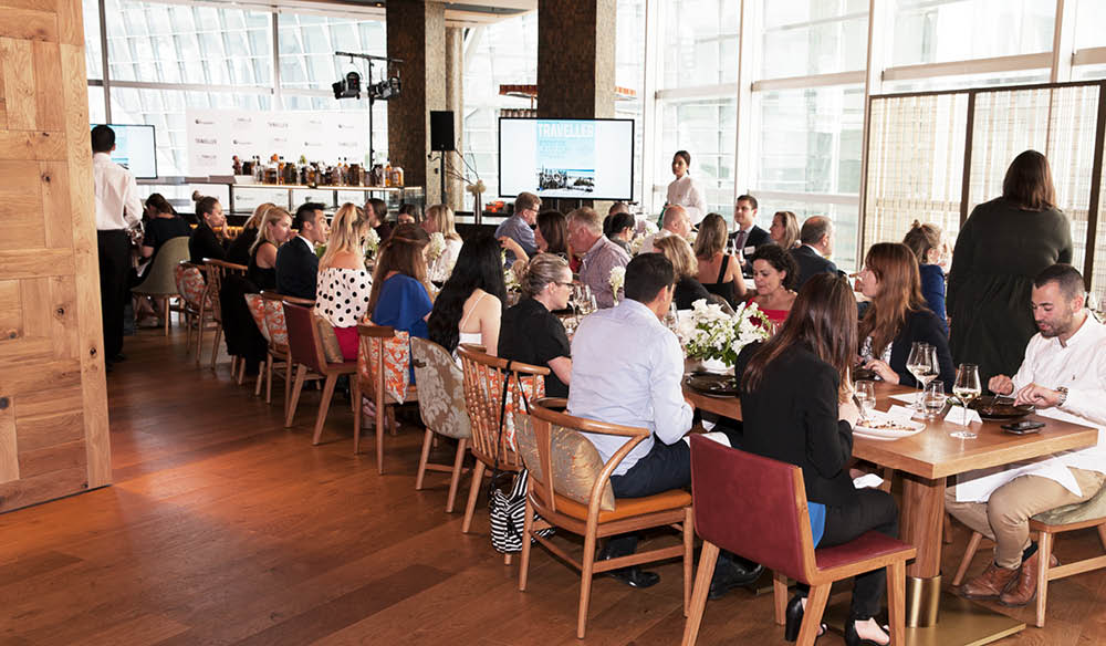 Around 80 people sat down to lunch at the new, beautiful Sofitel Darling Harbour.