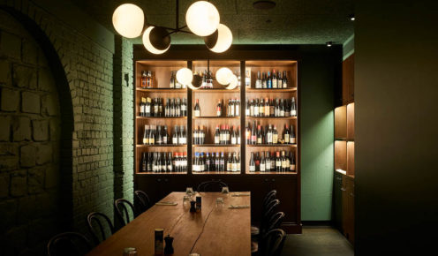 Interiors are sexy, cool and understated: Osteria Ilaria, Melbourne.