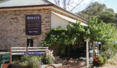 Share a lazy lunch at Reilly's Wines, complete with leafy courtyard, gourmet platters and vineyard views - naturally.