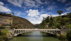 Tassie at her best: Cataract Gorge, West Launceston (photo: Pete Harmsen).