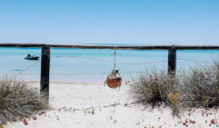 The ocean view out from Dirk Hartog Island homestead  (photo: Elise Hassey).