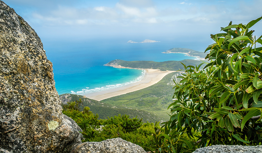 Wilsons promontory national park view from Mount Oberon