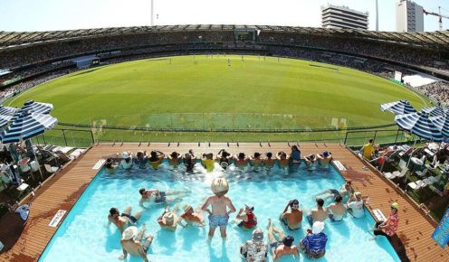Watch the cricket in style at the Gabba, Brisbane.