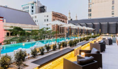 Grab a cocktail after work and sit in the sun at NEXT Hotel's Pool Terrace,