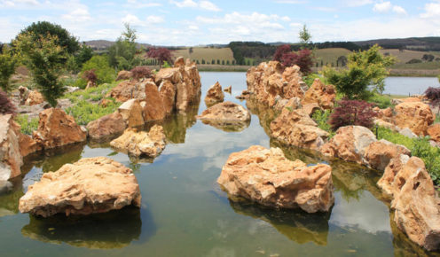 The perfect pond: Mayfield Garden, Oberon (photo: Lara Picone).