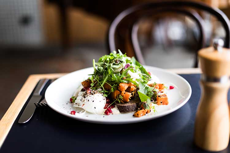 Sweet Potato Bruschetta from Muse Cafe in Canberra.