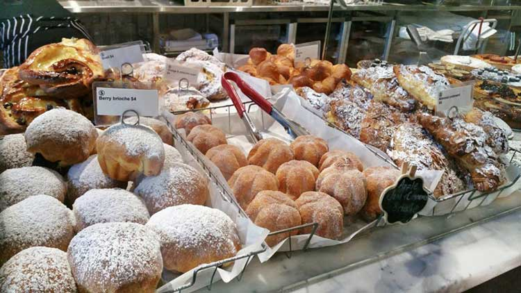 Delicious pastries baked in house daily at Silo Bakery, Canberra