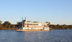 Murray River heritage: Calmly cruising past a paddle steamer.