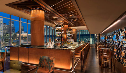 The Champagne Bar - spectacular perch from which to admire the CBD.