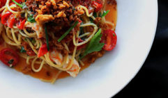 Signature spaghetti from the Italian-leaning kitchen at Young Barons, Woy Woy.