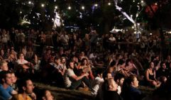Festivalgoers soak in sights and sounds at the Garden of Unearthly Delights. (photo: Tony Virgo).