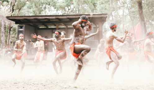 Ancient forms courtesy of the Mayi Wunba mob from Kuranda (photo: Elise Hassey).