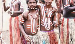 Ready to dance: Braydan Hobson and Joaquin Woodley from Lockhart River (photo: Elise Hassey).