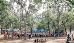 The circle, equivalent to the centre of the world at Cape York's Laura Dance Festival (photo: Elise Hassey).