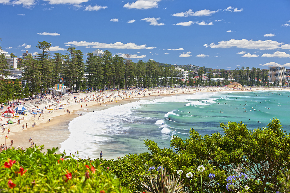 Aerial shot of 'Australia's best beach', as voted in TripAdvisor's '2018 Travellers' Choice' awards.