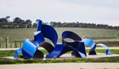 Michael Le Grand's Tsunami overlooks rows of grape vines at Pt. Leo Estate (photo: Anson Smart).