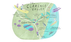 Clarence Valley map