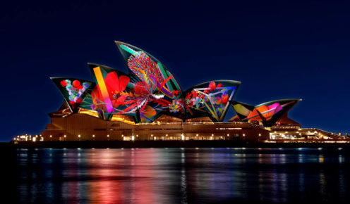 Australian artist, Jonathan Zawada, will light up the Sydney Opera House each night with his specially designed artworks that reflect the Australian environment.