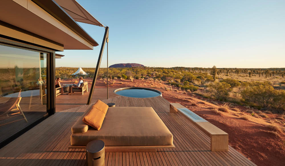 Plunge pool. Longitude 131, Uluru, Northern Territory