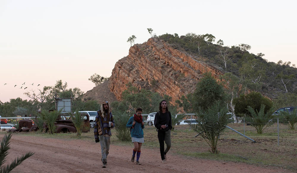 Arriving at Wide Open Space Festival, Alice Springs
