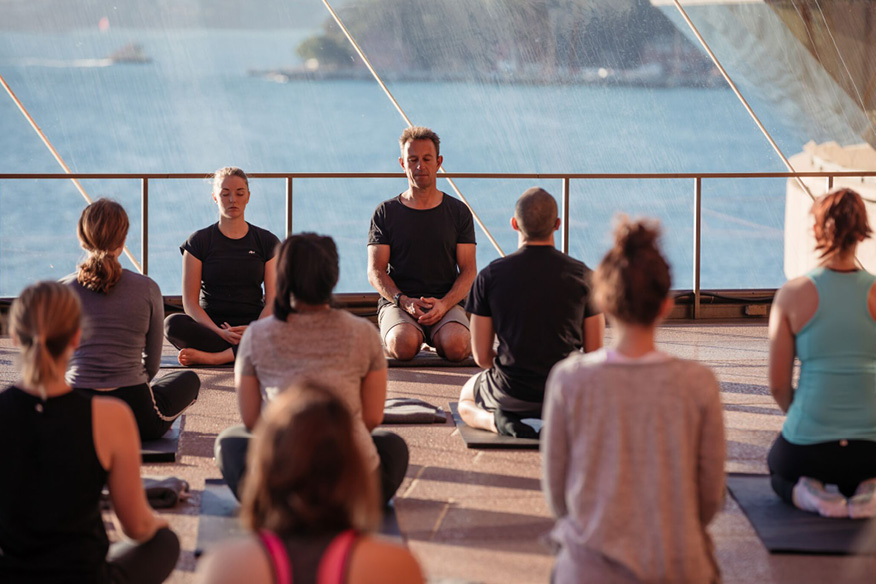 Yoga at the Sydney Opera House