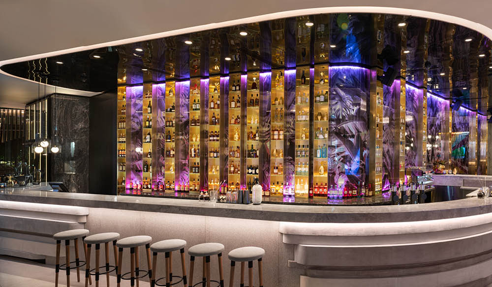 The incredible bar at the W Hotel, Brisbane.