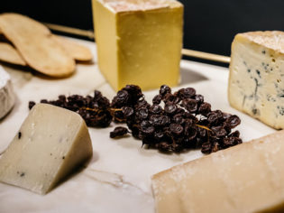 The selection of cheeses at Landscape restaurant
