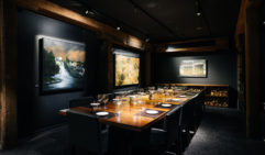 Lining the historic walls of the dimly lit, former IXL jam factory at Landscape Restaurant is a collection of iconic John Glover paintings.