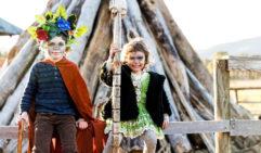 Children at the Huon Valley Mid-Winter Festival, Tasmania