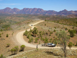 Driving through the Flinders Ranges and Outback is a real sight to behold
