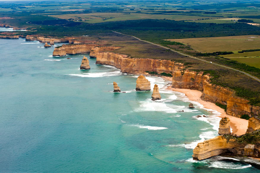 The unmistakable 12 apostles at The Great Ocean Road