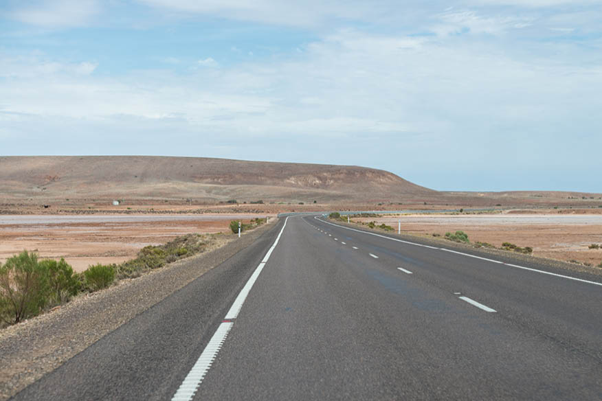 Few roads are more open than the Stuart Highway