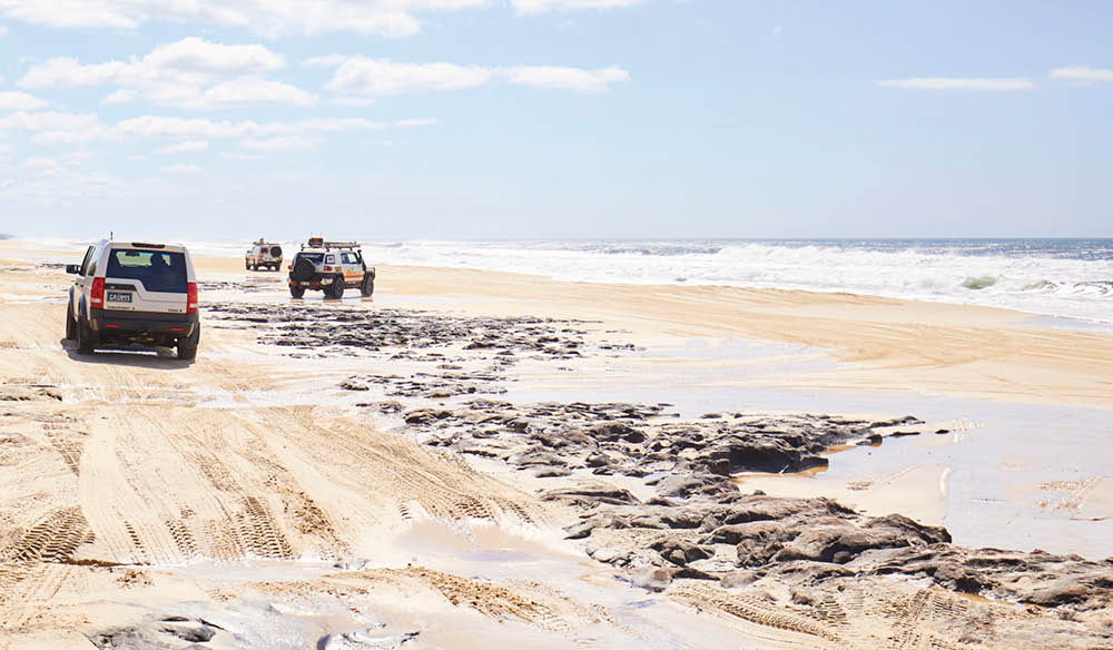 The Great Beach Drive takes you across 380 kilometres of the most pristine, and deserted, beaches in Australia.