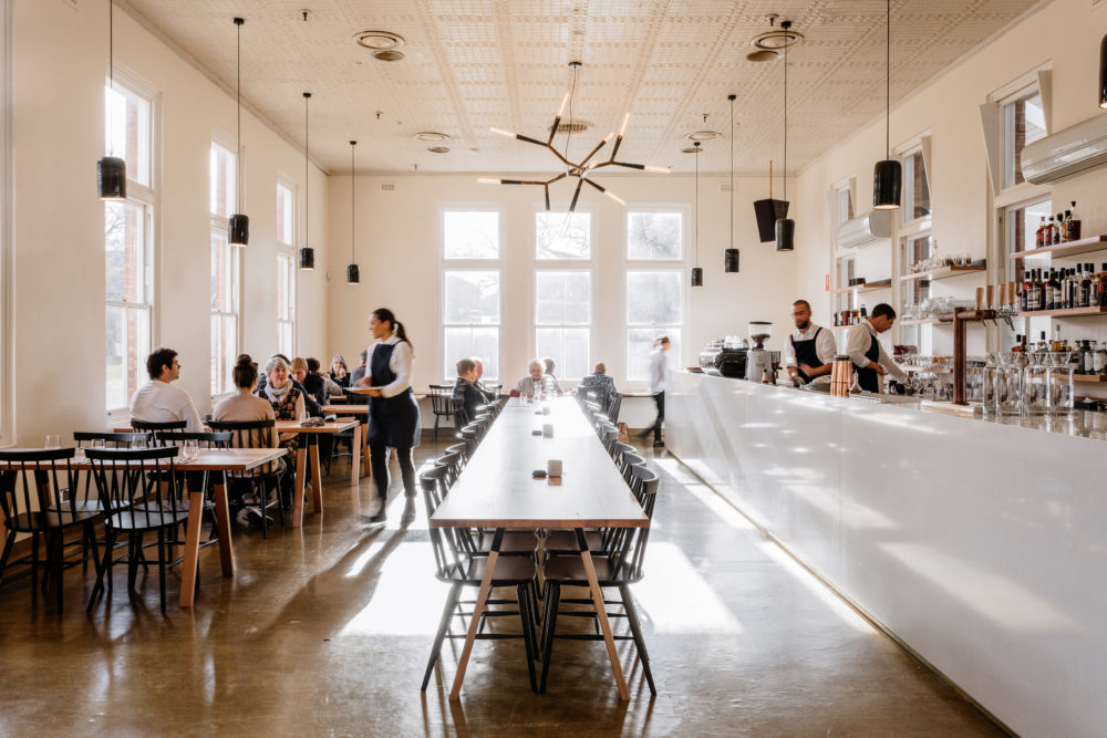 Set in the beautiful Bronte building in New Norfolkâs Willow Court The  Agrarian Kitchen Eatery & Store revolves around a constantly changing menu which celebrates seasonality every day.