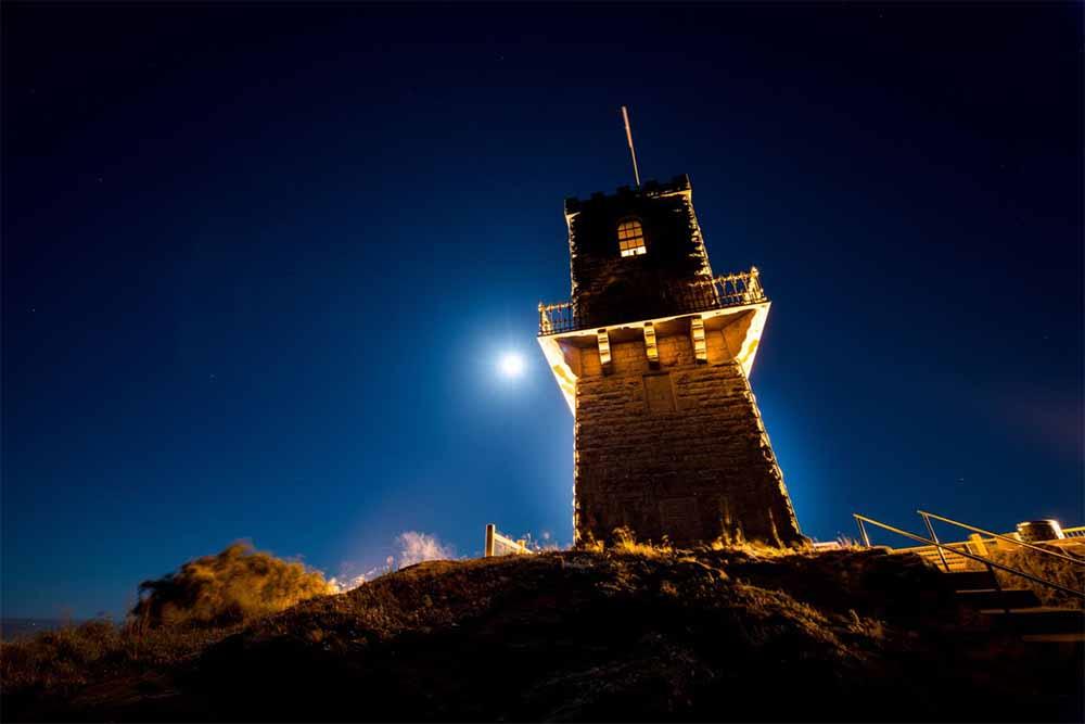 Moonlight ignites Mount Gambier