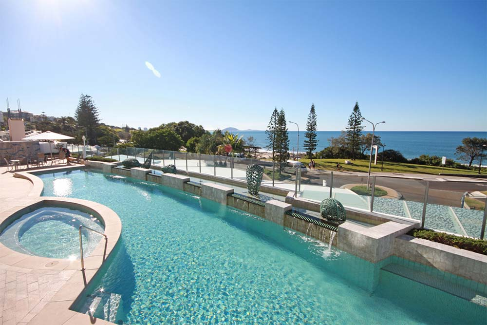 Oceans Mooloolaba pool and spa will take your stresses away