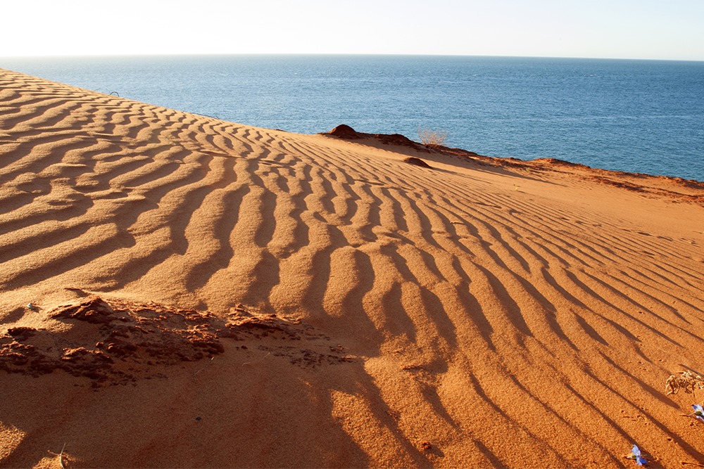 Step out onto untouched sand and feel like an explorer