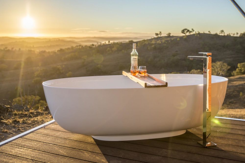 There are worse places to have a bath than Mudgee escape